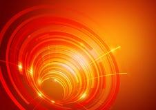 Le résumé entoure le fond d'orange de technologie Images stock