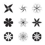 Le résumé fleurit l'icône, illustration Ensemble de fleurs graphiques Photographie stock libre de droits