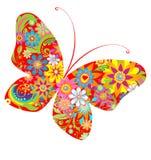Le résumé fleurit le papillon Images libres de droits