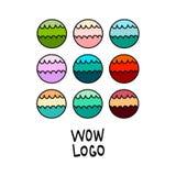 Le résumé moderne bouillonne collection Éléments de conception et de logo illustration de vecteur