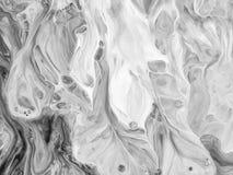 Le résumé noir et blanc a peint le fond, papier peint, texture Art moderne photos libres de droits