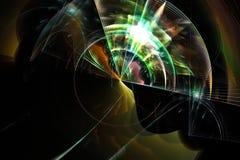 Le résumé numérique, étincelles modèlent le calibre coloré de lueur de fractale a recouvert la dynamique de magie de conception m illustration libre de droits