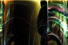 Le résumé numérique, calibre coloré actuel de lueur de fractale de puissance de modèle d'étincelles a recouvert la dynamique de m illustration libre de droits