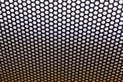 Le résumé a pointillé la texture noire et blanche dans utile matériel en métal pour le fond Photographie stock libre de droits