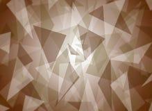 Le résumé a posé le modèle brun de triangle avec la conception centrale lumineuse de fond Images libres de droits