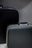 Le rétro bagage des hommes Photographie stock libre de droits