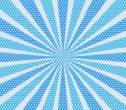 Le rétro bleu comique striiped et le gradient de trame de fond de point hal illustration libre de droits