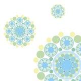 le rétro bleu pointille des flocons de neige Photographie stock libre de droits
