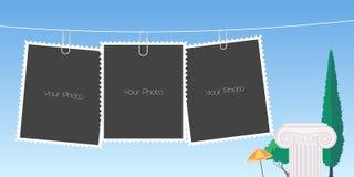 Le rétro collage de style de la photo encadre l'illustration de vecteur Photographie stock