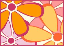 Le rétro jaune fleurit Backgroun image libre de droits