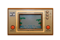 Le rétro jeu de console photos stock
