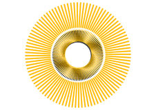 Le rétro soleil de vecteur Photos libres de droits