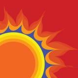 Le rétro soleil de vecteur Images stock