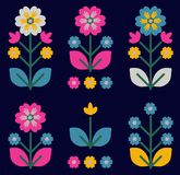 Le rétro, traditionnel ornement floral a inspiré par Ukrainien et Pol Image stock