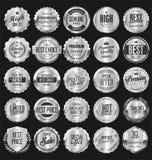 Le rétro vintage badges et marque la collection images stock