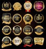 Le rétro vintage badges et marque la collection images libres de droits