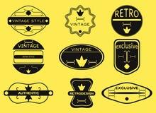 Le rétro vintage de hippie badges, des rubans et marque le hippie Images stock