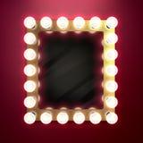 Le rétro vintage réaliste composent le miroir Image stock