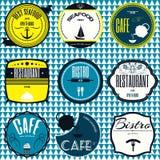 Le rétro vintage réglé badges, des rubans et marque l'enseigne de hippie Photos libres de droits