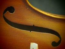 Le rétro violon Melody Sound Hole Music Instrument inspirent la vue de trou d'épingle Photos libres de droits