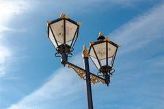 Le réverbère démodé, Gibraltar Images stock