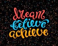 Le rêve croient réalisent illustration de vecteur