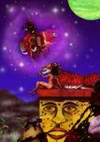 Le rêve d'un rêveur (J L'ordre rêveur du gris, 2010) Image stock