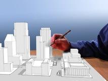Le rêve de l'architecte Photo libre de droits