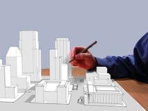 Le rêve de l'architecte Image libre de droits