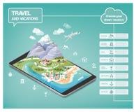 Le rêve vacations infographic illustration de vecteur