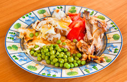 Le rôti de porc avec garnissent Photo stock