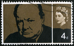 Le R-U - 1965 : monsieur Winston Spencer Churchill d'expositions Photo libre de droits