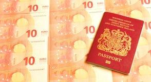 Le R-U dans la zone euro Images libres de droits