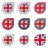 Le R-U de l'illustration de label de bouton de la Grande-Bretagne Images libres de droits