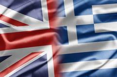 Le R-U et la Grèce Photo stock