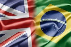 Le R-U et le Brésil Images libres de droits