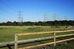 Le R-U, l'infrastructure, l'électricité et le gaz Image stock