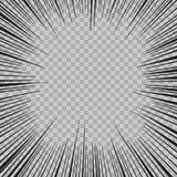 Le radial abstrait d'explosion d'instantané de bande dessinée raye le fond Illustration de vecteur pour la conception de super hé Photos libres de droits