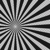 Le radial abstrait d'explosion d'instantané de bande dessinée raye le fond Rayons d'illusion Élément grunge de conception de rétr illustration de vecteur