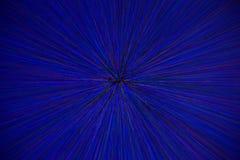 Le radial naturel d'explosion de bourdonnement de lentille a brouillé les points vert-bleu rouges sur le fond noir illustration de vecteur