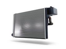 Le radiateur de voiture d'isolement sur le fond blanc 3d rendent Images libres de droits