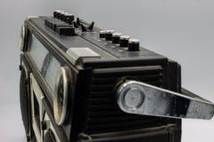 Le radio erano molto grandi, contenendo due altoparlanti e un giranastri immagine stock libera da diritti