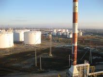 Le raffinerie de pétrole Images stock
