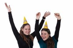 Le ragazze celebrano Immagine Stock