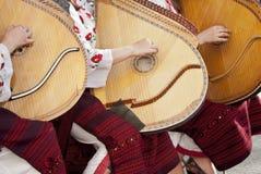 Le ragazze dell'Ucraina giocano uno strumento musicale Immagini Stock Libere da Diritti