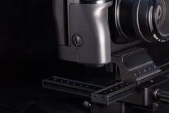 Le rail de focalisation de photographie, se ferment, foyer sélectif, tache floue volontaire Photographie stock