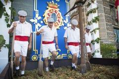 Le raisin traditionnel frappent du pied en xérès Photos libres de droits