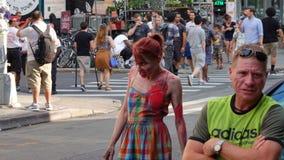 Le rampement 202 de zombi de 2017 NYC Images stock