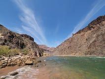 Le rapide del granito tirano nel parco nazionale di Grand Canyon, Arizona fotografia stock
