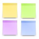 Le rappel collant note les papiers colorés réalistes illustration stock